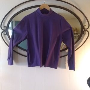 Land's End Purple Pullover